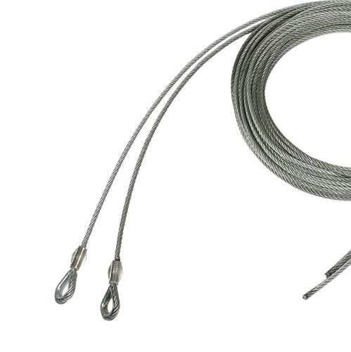 Cable set 5mm x 120mmm with thimble