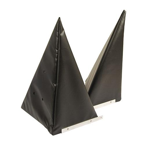 Hoekkussen, driehoek 400x890mm