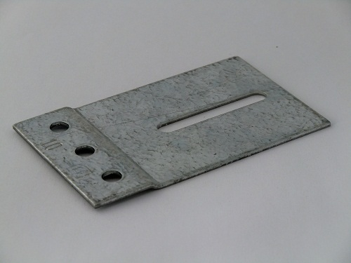 Track connecting plate 60x100mm, galvanized