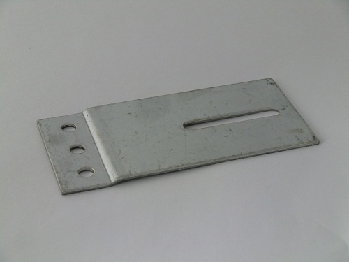 Track connecting plate 60x120mm, galvanized