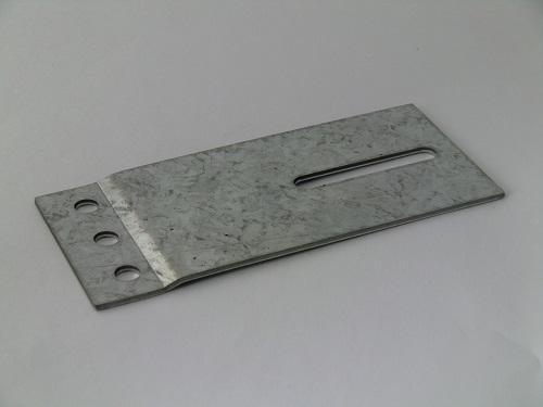 Railplaat 60x130mm, verzinkt