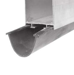 bottom sealing, manually operated doors
