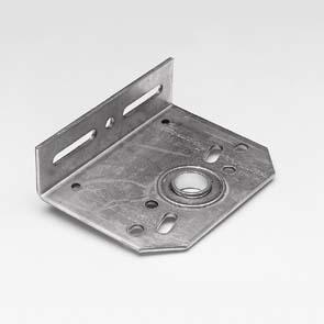 Middenlagerplaat, 1 inch, 127mm, omgekeerd