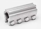 Coupler, solid, aluminum, 1 inch