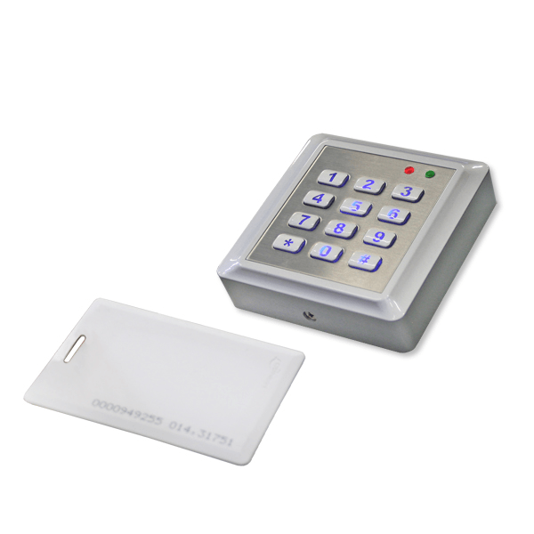 Keypad with card reader