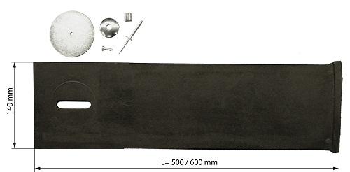 Verstevigingsstrip, flapbreedte 600mm