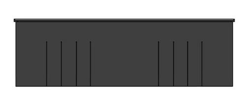Topflap SME, gedeeltelijk in lamellen