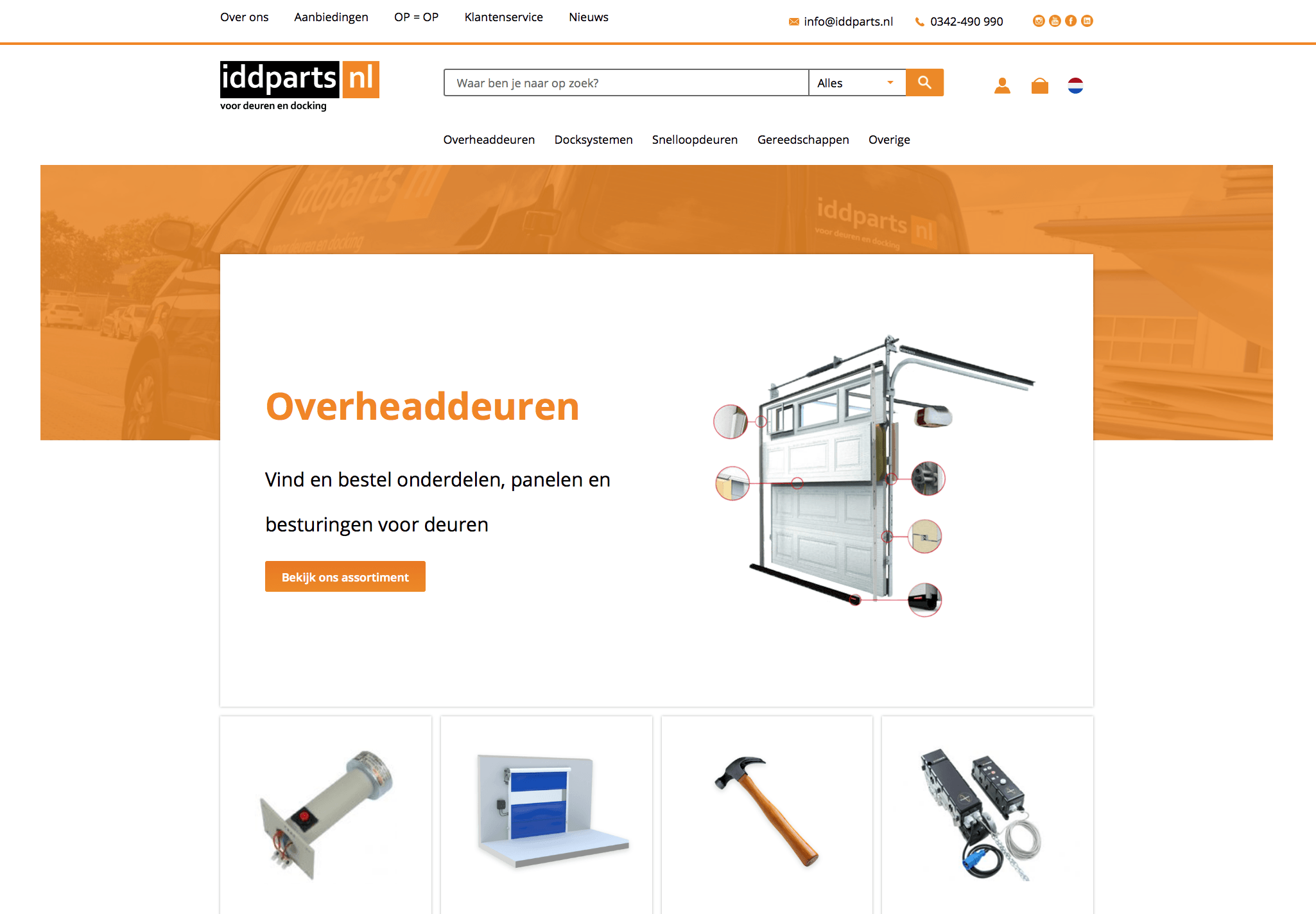 New look and feel website IDD-Parts