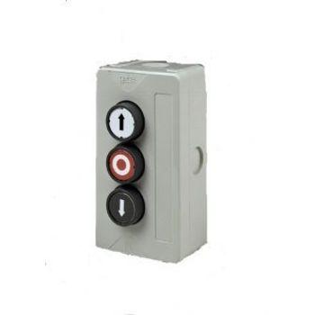 Boîtier à 3 boutons poussoir GEBA, montée - arrêt - descente