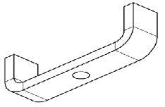 MPV-locking bracket CNS 25mm