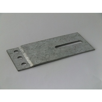 Track connecting plate 60x130mm, galvanized