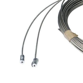 Lifting cable set 4mm, L=9000mm, bottom equiped with steel pressed sleeve