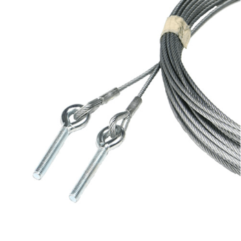 Lifting cable set 5mm, L=6000mm, equipped with thimble and M10 screw eye