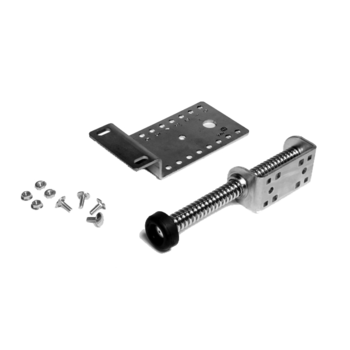 Spring bumper short, including mounting plate