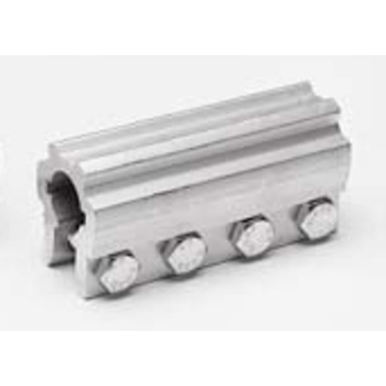Koppeling, vast, aluminium, 1 inch