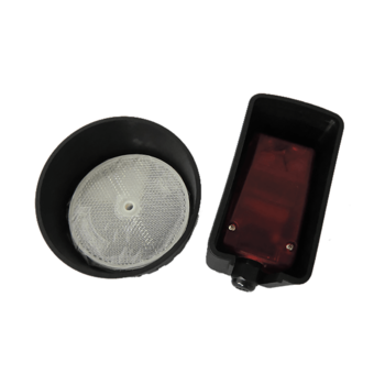 Photocell with reflector