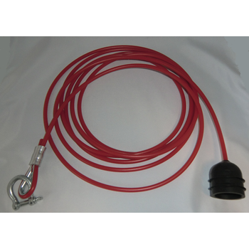 PVC rope for pull switch, assembled, 10 meter
