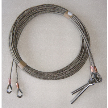 Stainless steel lifting cable, 5mm, 9000mm